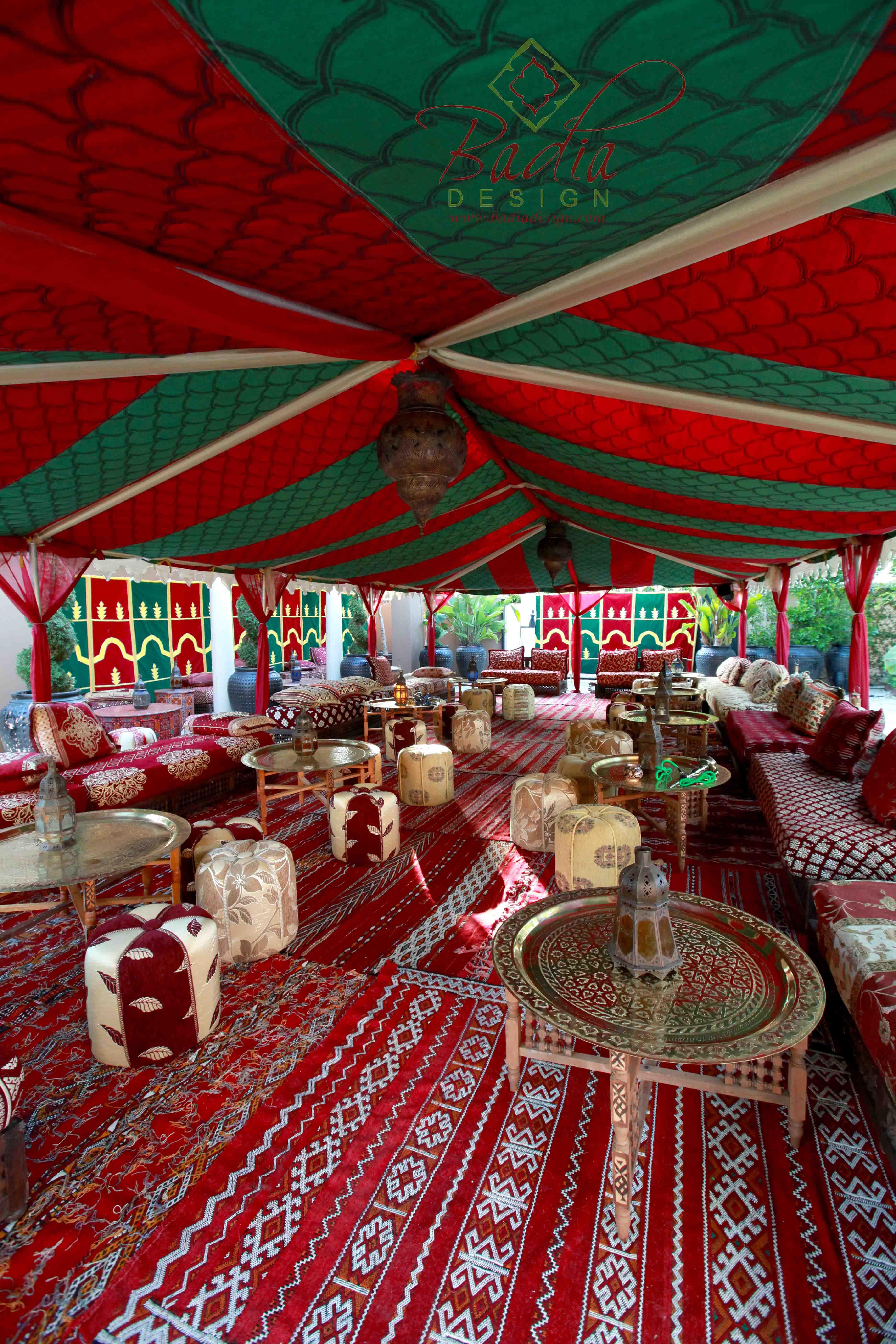 Moroccan Tent Rentals Los Angeles from Badia Design Inc.