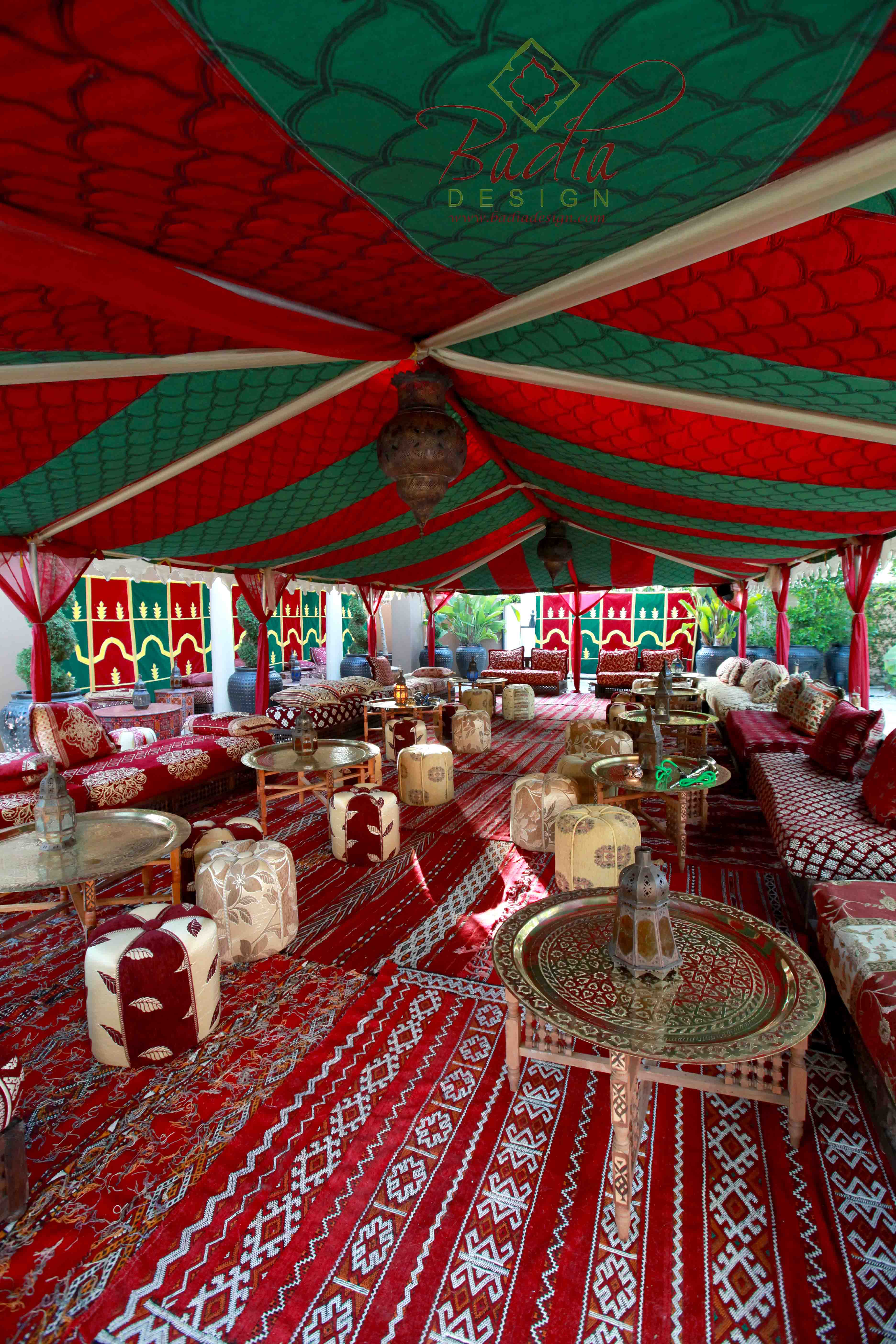 Moroccan Tent Rentals Los Angeles from Badia Design Inc.