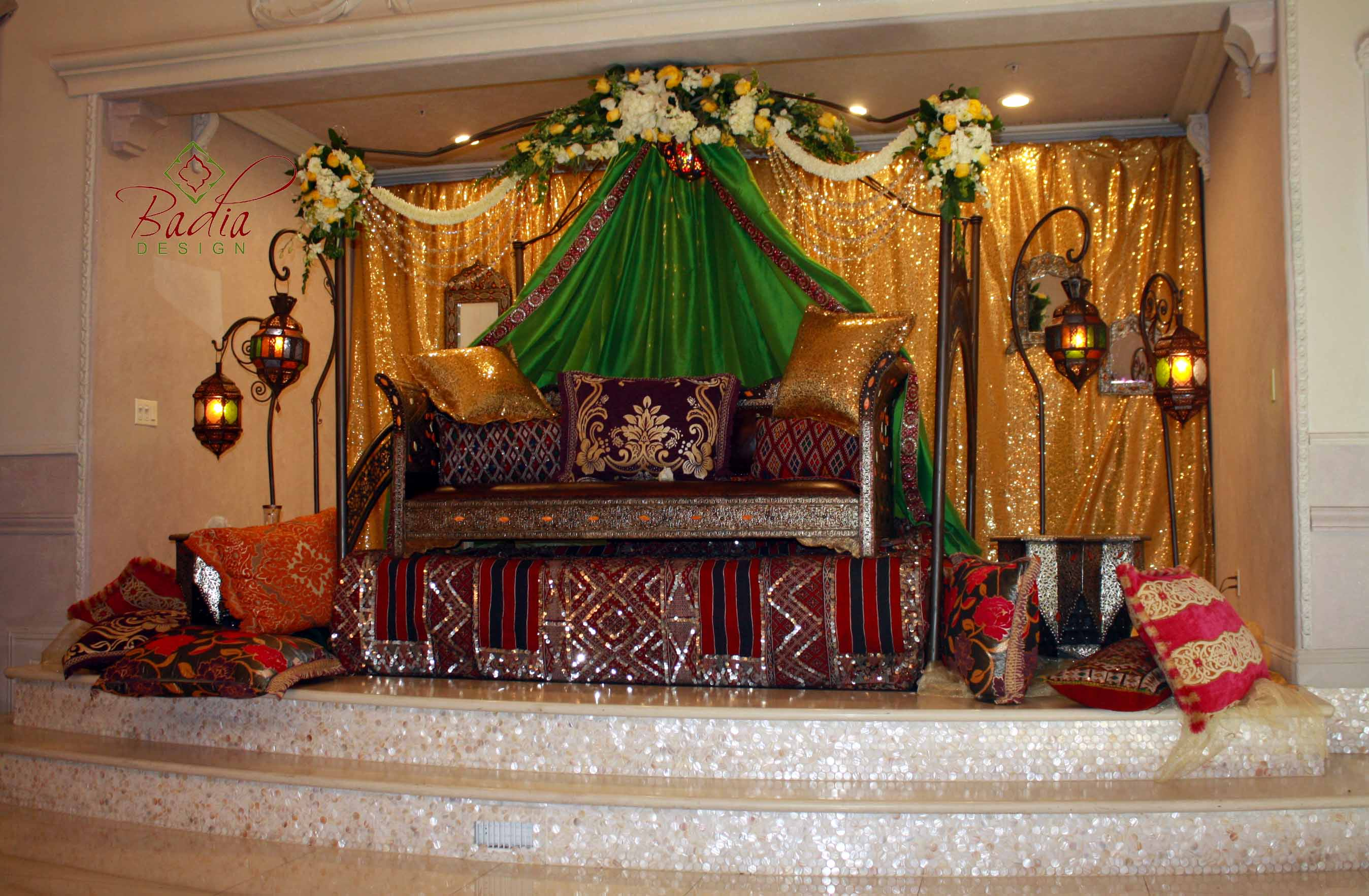 Moroccan Wedding Design from Badia Design Inc.