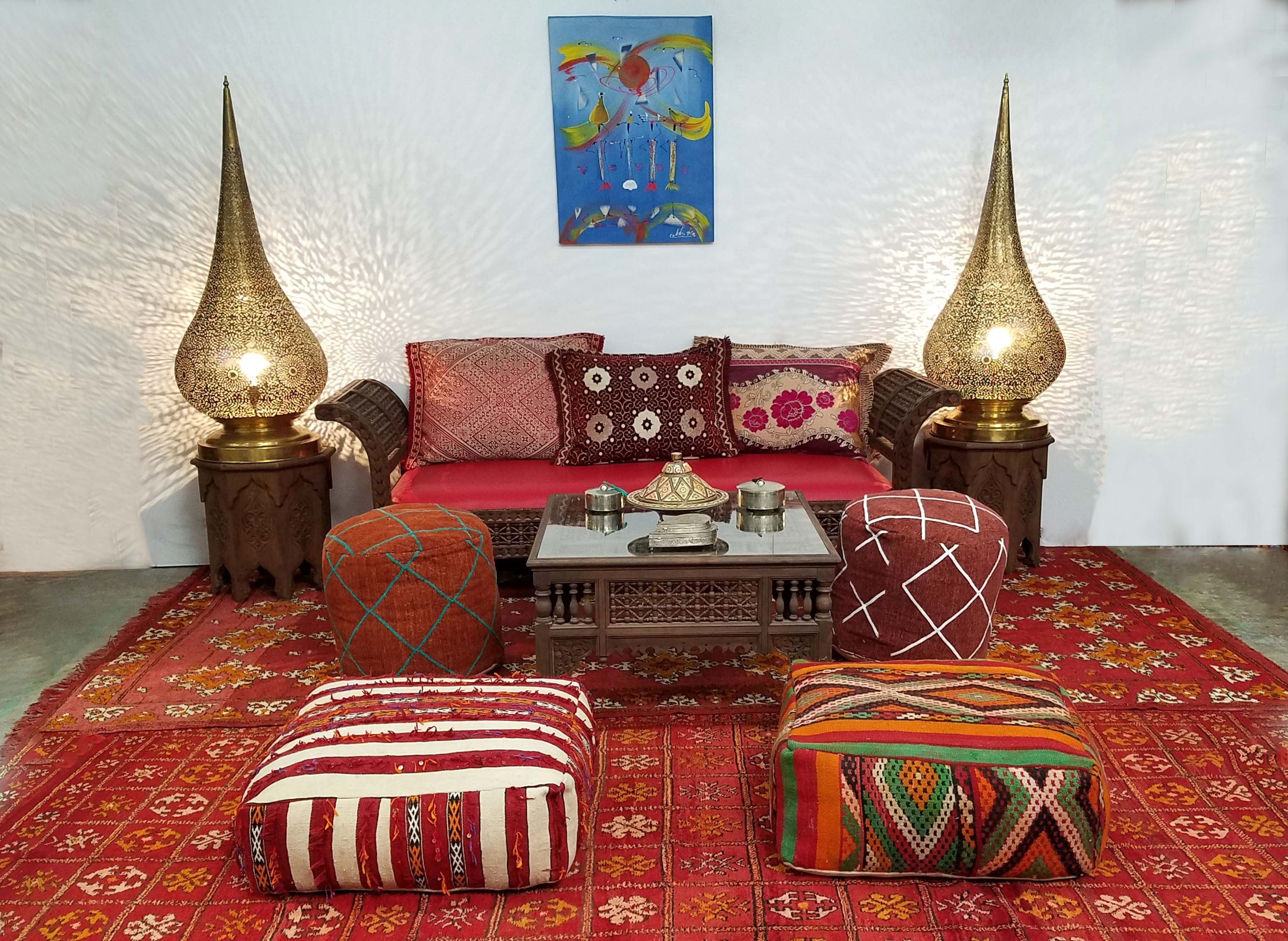 Traditional Moroccan Living Room Decor - Badia Design Inc Store