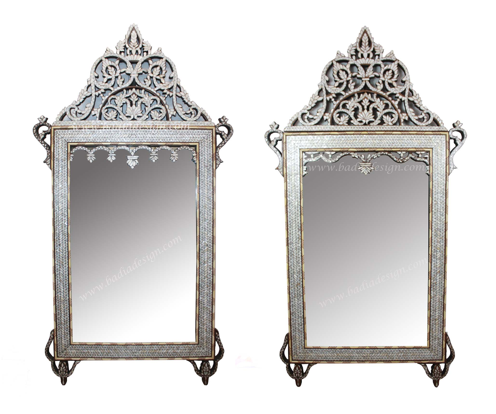 White mother of pearl mirror m mop024 jpg