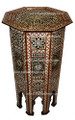Mother of Pearl Inlaid Handcrafted Wooden Side Table - MOP-ST012