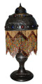 Colored Beaded Brass Table Lamp LL036