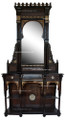 Mother of Pearl Inlay Cabinet with Mirror MOP-CA002