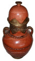 Large Rusty Brown Urn - VA027
