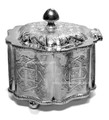 Set of 2 Silver Plated Container with Hinged Lid HD125
