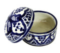 Hand Painted Ceramic Container HD126