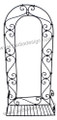 Wrought Iron Wall Shelf - IP012