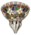 Metal Half Moon with Multiple Colored Glass Wall Sconce WL096