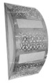 Silver Metal Sconce with White Color Glass - WL065