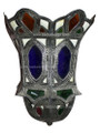 Metal and Bone with Colored Glass Wall Sconce WL079