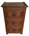 Hand Carved Wooden Nightstand - CW-NS001