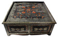 Metal and Bone Square Coffee Table - MB-CT013