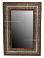 Metal and Bone Rectangular Mirror M-MB022