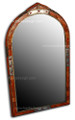 Pointed Arch Top Orange Camel Bone Mirror M-MB015