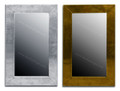 Silver and Gold Metal Rectangular Mirror - M-N008