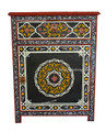 Black Hand Painted Cabinet - HP-CA017