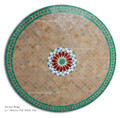 39 Inch Moroccan Mosaic Tile Table Top - MTR317