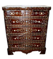 Mother of Pearl Inlaid 5-Drawer Dresser with White Marble Top MOP-DR020