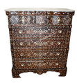 Mother of Pearl Inlaid 5-Drawer Dresser with White Marble Top MOP-DR021