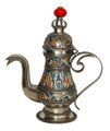 Decorative Metal and Ceramic Teapot - CER010