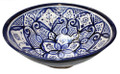 Hand Painted Floral Ceramic Bowl - CER-B005