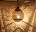 Moroccan Hanging Brass Lantern - LL089