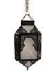 White Colored Glass Lantern LG003