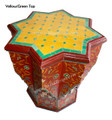 Hand Painted Star Shaped Side Table - HPS917
