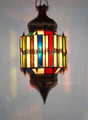 Hanging Lantern with Multi Color Glass - LIG105
