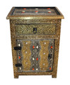 Metal and Bone Cabinet from Morocco - MB-CA037