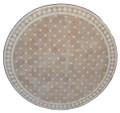 36 Inch Round Moroccan Tile Table Top - MTR214