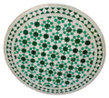 24 Inch Round Moroccan Tile Table - MTR221