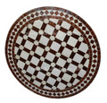24 Inch Round Moroccan Tile Table - MTR224