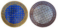 24 Inch Moroccan Round Tile Table Top - MTR229