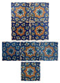 Moroccan Mosaic Hand Painted Tiles - CT037
