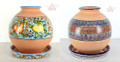 Modern Design Hand Painted 2 Piece Ceramic Planter - CER018