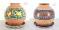 Modern Design Hand Painted 2 Piece Ceramic Planter - CER018