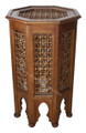 Wooden Moucharabieh Side Table - CW-ST026
