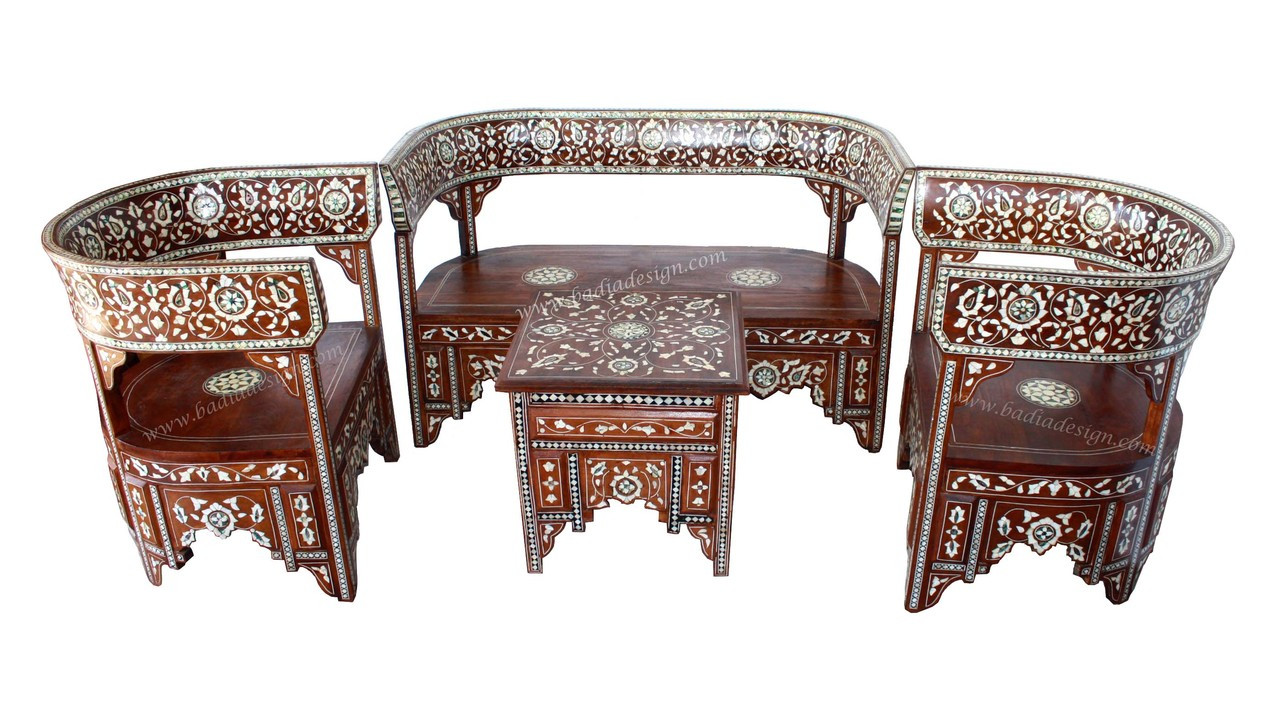 Moroccan Mother Of Pearl Living Room Set From Badia Design Inc