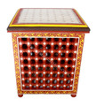 Hand Painted Tile Top Side Table - HP-CA023