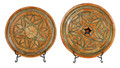 Round Metal and Orange Bone Tray - T-MB001