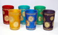 Multi Color Frosted Tea Glasses - TG045