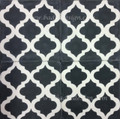 Black and White Cement Tile - CT055