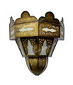 Brass Wall Sconce with White Glass - WL175
