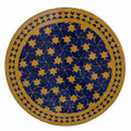 24 Inch Round Moroccan Tile Table Top - MTR242