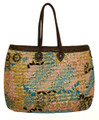 Moroccan Straw Lined Handbag - HB002A