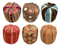 Fabric Pouf with Vibrant Colors - FP031