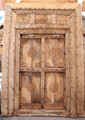 Vintage Hand Carved Wooden Door - CWD016