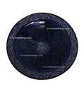 Hand Painted Carved Blue Ceramic Platter CER34-B L